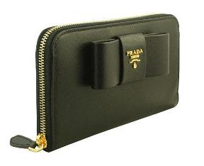 PRADAプラダのレディース長財布サフィアーノフィオッコ