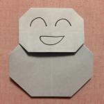 折り紙雪だるまの簡単な作り方