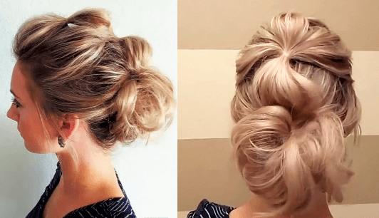 浴衣に合う髪型を簡単アレンジ画像集 セミロング 1