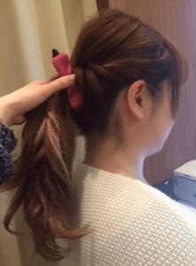 浴衣に合う髪型を簡単アレンジ画像集 セミロング 3