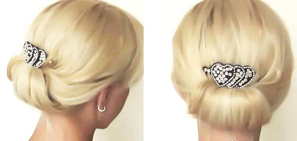 浴衣に合う髪型を簡単アレンジ画像集 セミロング 4