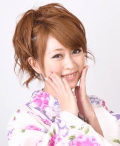 浴衣に合う髪型を簡単アレンジ画像集 ミディアム 2