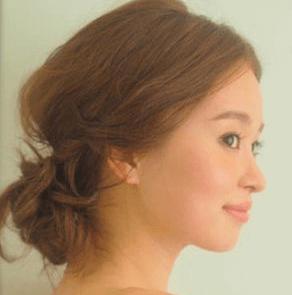 浴衣に合う髪型を簡単アレンジ画像集 ミディアム 6