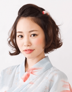 浴衣に合う髪型を簡単アレンジ画像集 ミディアム 7