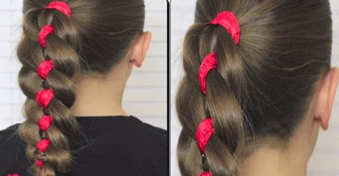 浴衣に合う髪型を簡単アレンジ画像集 編み込みと三つ編み 9