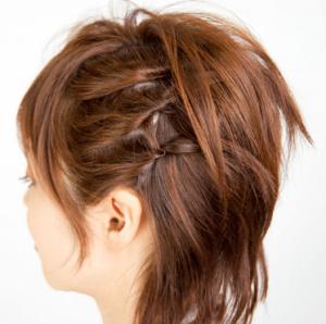 浴衣に合う髪型を簡単アレンジ画像集 ショート 2
