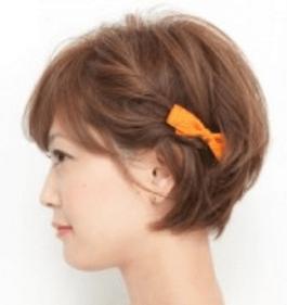 浴衣に合う髪型を簡単アレンジ画像集 ショート 4