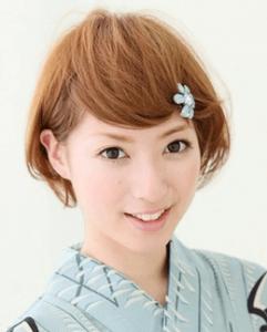 浴衣に合う髪型を簡単アレンジ画像集 ショート 7
