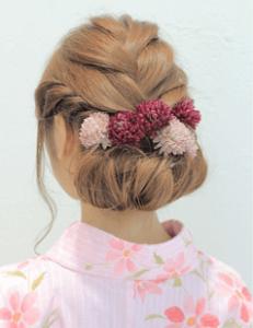 浴衣に合う髪型を簡単アレンジ画像集 編み込みと三つ編み 1