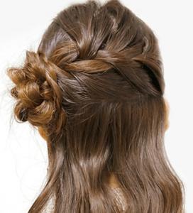 浴衣に合う髪型を簡単アレンジ画像集 編み込みと三つ編み 10