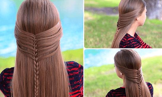 浴衣に合う髪型を簡単アレンジ画像集 編み込みと三つ編み 11