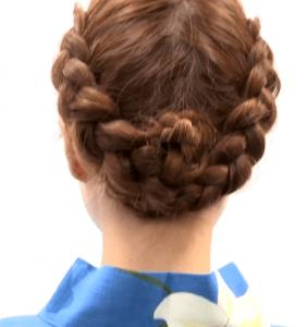 浴衣に合う髪型を簡単アレンジ画像集 編み込みと三つ編み 2