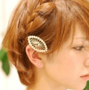 浴衣に合う髪型を簡単アレンジ画像集 編み込みと三つ編み 4