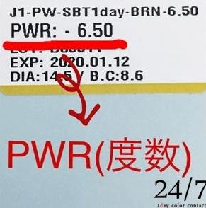 コンタクトレンズ PWR 意味