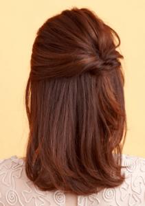 お葬式の髪型(女性)画像 セミロング 6