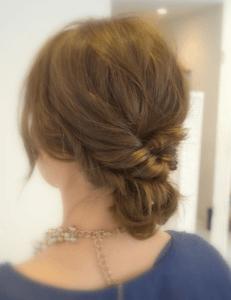 お葬式の髪型(女性)画像 セミロング