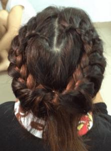 お葬式の髪型(女性)画像 ハートアップ