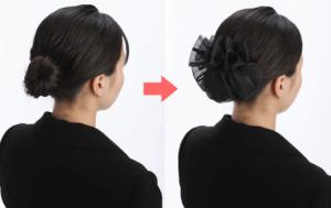 お葬式の髪型(女性)画像 ミディアム