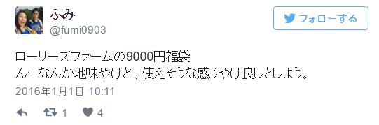 ローリーズファーム福袋9000円A地味