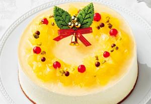 林檎とキャラメルのリースケーキ